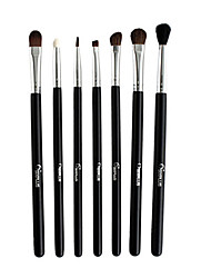7 Eyeshadow Brush Goat Hair Professional / Portable Wood Eye