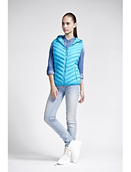 Women's Down Coat,Simple Casual/Daily Solid-Polyester Without Filling Material Sleeveless Blue / Pink / Red
