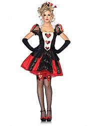 Alice's Adventures in Wonderland Costumes The Queen of Hearts Coslay Sexy Halloween Costume for Women