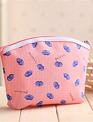 Women Cosmetic Bag Canvas Casual Outdoor Black Green Blushing Pink