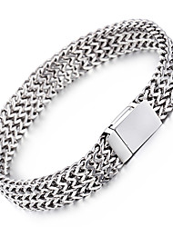 Kalen® Men's New 22cm Mesh Bracelet 316L Stainless Steel Jewelry Polished Slight Hand Chain  Cool  Christmas Gifts