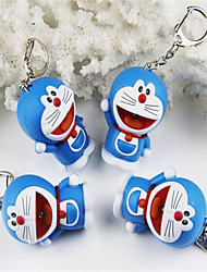 Doraemon Cat Vocal Ring Key Chain Duo A Dream LED Talking Flashlight