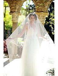Hochzeitsschleier Einschichtig Gesichts Schleier Kathedralen Schleier Schnittkante Tüll