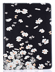 With Stand Flip  Flower Pattern Case Full Body Case Hard PU Leather for iPad 234