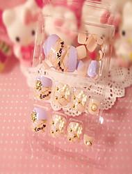 toenails-de-rosa adesivos de unhas 3d 24 diamante produtos unha cola toes