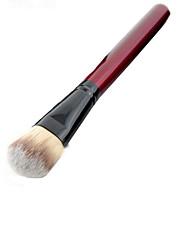 1 Foundation Brush Nylon Portable Wood Face