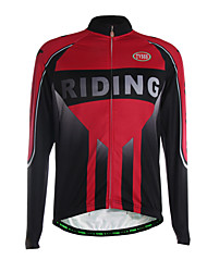 Sports Cycling Jersey Men's Long Sleeve Breathable / Thermal /Front Zipper / Ultra Light Fabric Bike Jersey