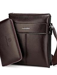 Men PU Casual / Office & Career Shoulder Bag Brown / Black / Khaki
