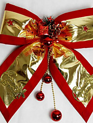 Christmas Decorations Christmas Party Add-ons The Red Edge Platinum Merry Christmas Bowknot 30*35Cm
