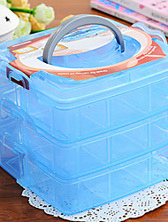 Storage Box Three Layers Transparent For Small Things Decorate Jewelry Random Colours