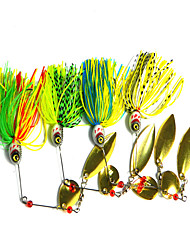 1 pcs Fishing Lures Buzzbait & Spinnerbait Green White Red Blue g/Ounce mm inch,Metal Bait Casting