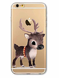 For iPhone 7 Case / iPhone 6 Case / iPhone 5 Case Ultra-thin / Pattern Case Back Cover Case Christmas Soft TPU AppleiPhone 7 Plus /