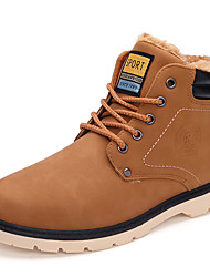 Men's Boots Spring / Fall / Winter Snow Boots / Combat Boots Synthetic Outdoor / Casual Chunky Heel Yellow / Taupe