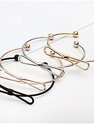 Pulseiras Pulseiras com Pendentes / Bracelete / Pulseiras Algema Liga Formato Circular Fashion / Ajustável / Rock / Hipoalergênico