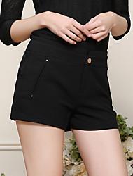 Damen Hose - Einfach Kurze Hose Polyester / Elasthan Unelastisch