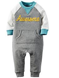 Pull à capuche & Sweatshirt bébé Imprimé Décontracté / Quotidien Coton Printemps / Automne-Bleu / Gris