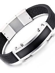 kalen® nova de couro pulseira da moda aço inoxidável 316L charme brilhante pulseira de couro para os homens arrefecer acessórios presentes