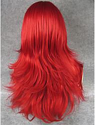 imstyle22''heat cospay resistente vermelha longa perucas de máquinas sintéticas retas pode ser curlyed