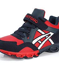 Boy's Athletic Shoes Spring Summer Fall Winter Comfort Leatherette Outdoor Casual Athletic Flat Heel Magic Tape Black Blue Red