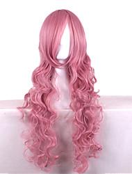 80 см закрыт сталкиваются с высокой температурой дыма розовый шелк вьющиеся волосы