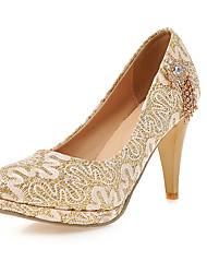 Feminino-Saltos-Plataforma / Sapatos com Bolsa Combinando-Salto Agulha-Vermelho / Prateado / Dourado-Sintético-Casamento / Festas & Noite