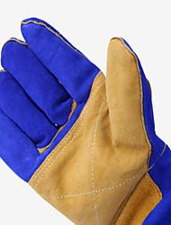 (примечание - синий сапфир плюс желтый ладони) кожаные перчатки удлинена труда страхование
