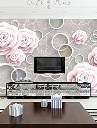 Fleur / Décoration artistique / 3D Fond d'écran pour la maison Contemporain Revêtement , Autre Matériel adhésif requis Mural , Chambre