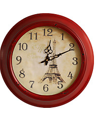American Imitation Retro Iron Mute Table Living Room Clock Wall Clock