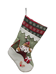 Christmas Decorations / Christmas Toys Holiday Supplies Santa Suits / Elk / Snowman Textile Dark Red / Red / Green All
