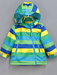 Girl's Casual/Daily Striped Down & Cotton PaddedCotton Winter Green / Yellow