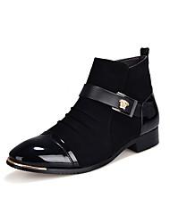 Men's Boots Fall Winter Comfort Pigskin Casual Low Heel Others Black