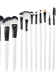 12 Makeup Brushes Synthetic Hair Professional / Portable Wood Face/Eye / Lip