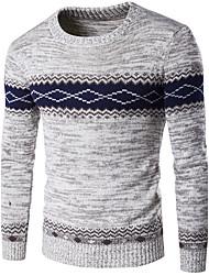 Standard Pullover Da uomo-Per uscire Casual Vacanze Semplice Monocolore Rosso Nero Grigio Rotonda Manica lunga Lana Autunno Inverno Spesso
