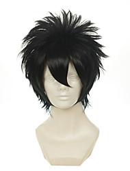 gintama Hijikata Toushirou multiuso preto revolvido curto halloween perucas perucas traje perucas sintéticas