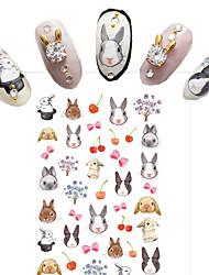 Water Transfer Printing Cartoon Rabbit Nail Stickers