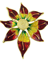 Colorful Enamel Sun Flower Shape Brooches