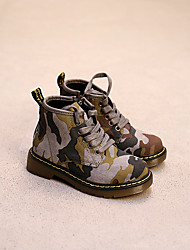 Boy's Boots Others Leather Casual Brown / Gray
