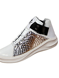 Men's Sneakers Spring / Fall Comfort Fabric Casual Flat Heel  Red / Silver / Gold Sneaker