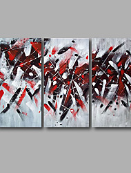 Stretched (Ready to hang) Hand-Painted Oil Painting 120cmx80cm Canvas Wall Art Modern Black Red