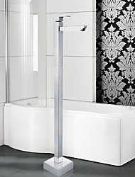 Contemporary / Art Deco/Retro / Floor Standing with  Ceramic Valve Single Handle One Hole for  Chrome
