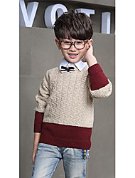 Boy's Casual/Daily Striped Sweater & CardiganWool Winter / Spring / Fall Beige