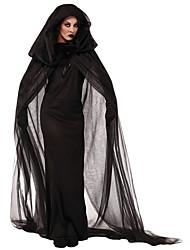 Costumi Cosplay / Mantello Mago/Strega Feste/vacanze Costumi Halloween Nero Con stampe Gonna / Mantello Halloween Cotone