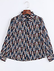 Women's New Style V Collar Plus Size Top Bodycon Women's Blouses Long Sleeve Chiffon WMBottoming Shirt
