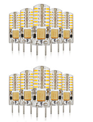 3W G4 Двухштырьковые LED лампы T 48 SMD 3014 140-160 lm Тёплый белый / Холодный белый / Естественный белыйДекоративная /