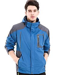 Men's  Winter Large Size Casual Long Sleeve Turtleneck Zipper Cotton Waterproof Anti-snow Cycling Climbing Jackets Coat