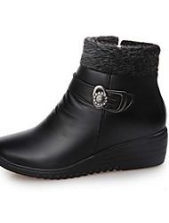 Для женщин Ботинки Удобная обувь Армейские ботинки Полиуретан Осень Зима Повседневные Для прогулок Удобная обувь Армейские ботинки Молнии