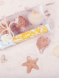 4box/set - Beach Starfish and Seashells candles Beter Gifts®  Wedding Door Gifts