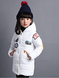 Girl's Casual/Daily Print Down & Cotton PaddedCotton / Rayon Winter / Spring / Fall Black / Red / White