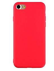 Pour Coque iPhone 7 / Coques iPhone 7 Plus / Coque iPhone 6 Ultrafine / Dépoli Coque Coque Arrière Coque Couleur Pleine Flexible TPU Apple