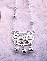 Necklace Non Stone Pendant Jewelry Wedding / Party / Daily / Casual Bohemia Style / Adorable Sterling Silver